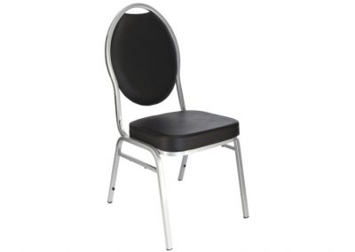 CHAISE RESTO NOIR SIMILI