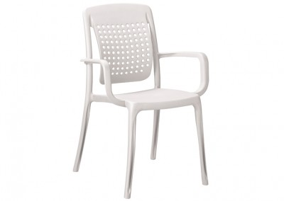 Fauteuil snack blanc
