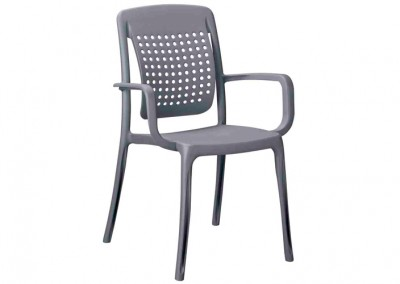 Fauteuil pour snack anthracite