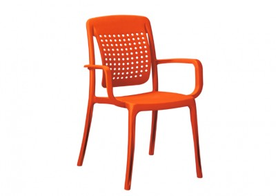 Fauteuil snack orange