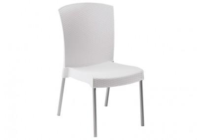 Chaise terrasse blanche
