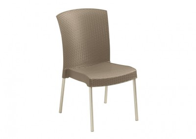 Chaise terrasse taupe