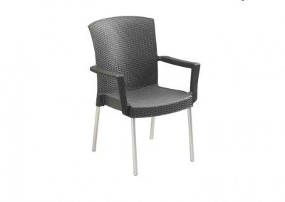 Fauteuil terrasse anthracite