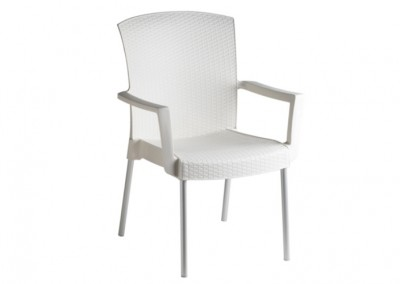 fauteuil terrasse blanc