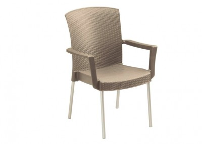 Fauteuil terrasse taupe