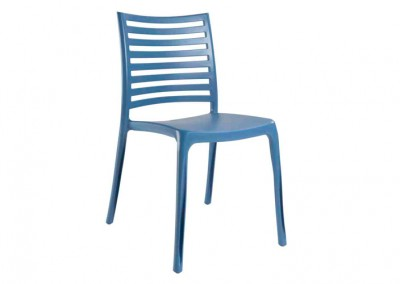 Chaise Eco bleu