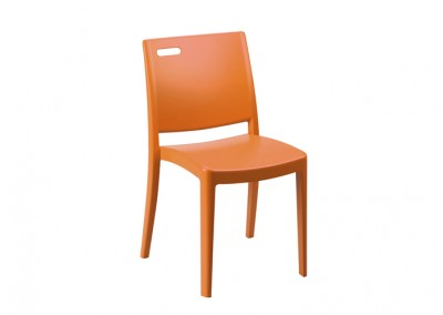 Chaise restauration orange