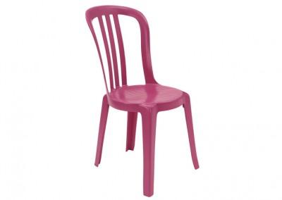Chaise bistro fuchia