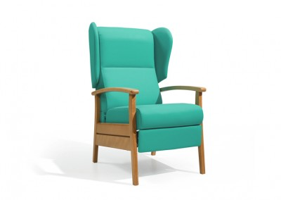 Fauteuil EHPAD turquoise