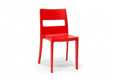 Chaise Eco rouge