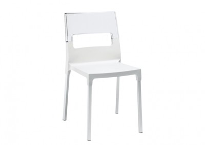 Chaise restaurant design blanche