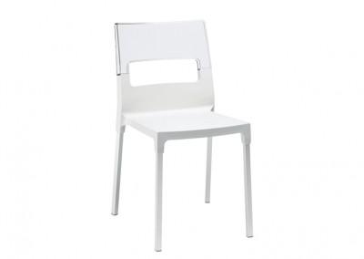Chaise restaurant design blanche