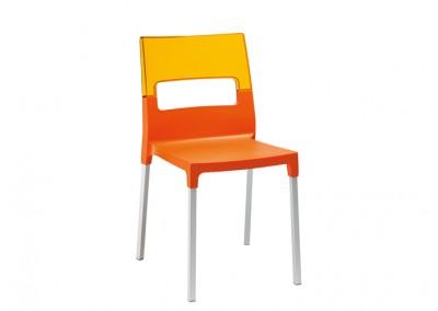 Chaise restaurant design orange