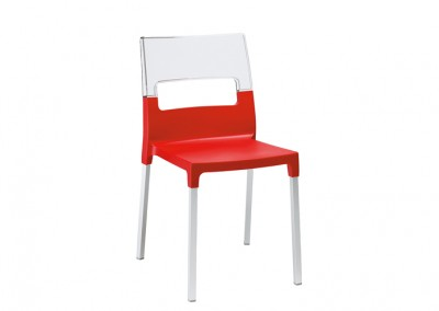 Chaise restaurant design rouge