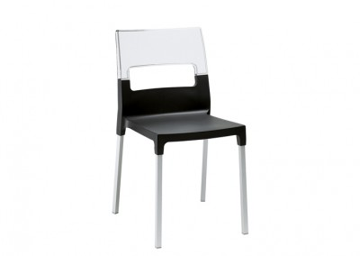 Chaise restaurant design noir