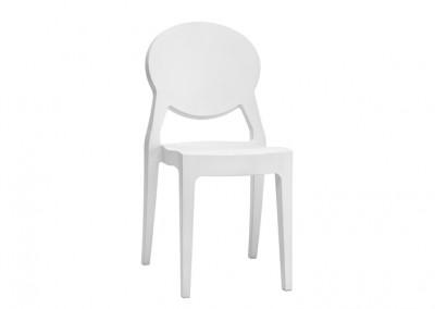 Chaise restaurant blanc brillant
