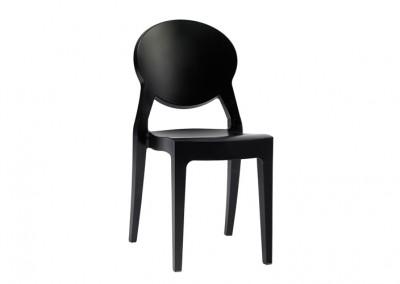 Chaise restaurant noir brillant