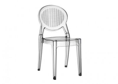 Chaise translucide brasserie luxe