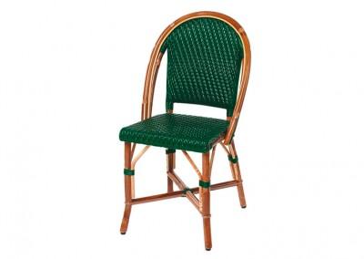 Chaise bistrot parisien verte