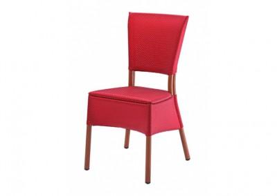 Chaise haut de gamme rouge