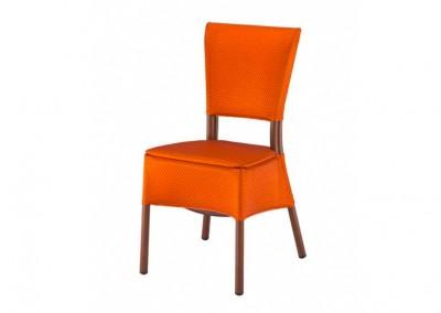 Chaise haut de gamme orange