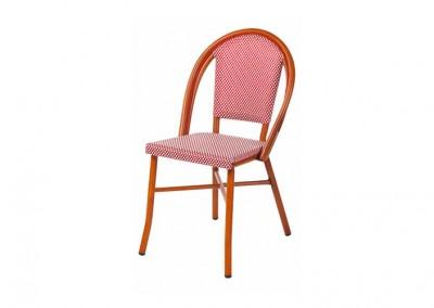 Chaise bistrot parisien quadrillée
