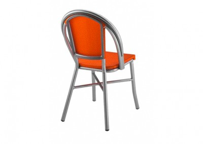 Chaise bistrot parisien orange