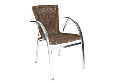 Fauteuil terrasse bistrot choco