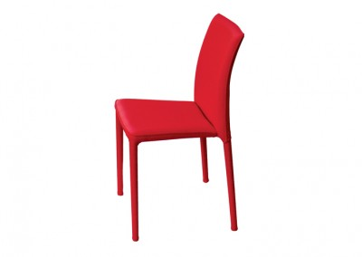 CHAISE TENDANCE LUXE ROUGE